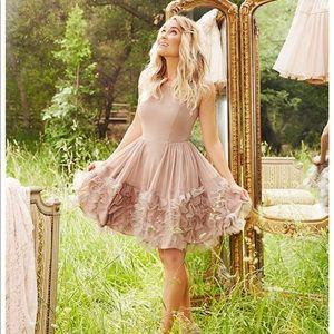 Cute Tan Short Dress